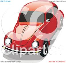 volkswagen beetle red clipart illustration of a red vw beetle car by david rey 26484