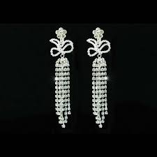 drag clip on earrings 4 5 drag rhinestone dangle clip on dangle earrings pageant