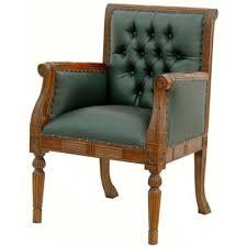 bureau style victorien fauteuil de bureau en acajou chesterfield vert meubles de style