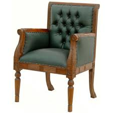 fauteuil de bureau chesterfield fauteuil de bureau en acajou chesterfield vert meubles de style