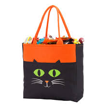 cat halloween tote underthecarolinamoon com