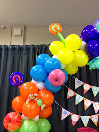 party people event decorating company candyland balloon arch