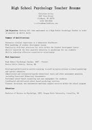 special education teacher resume examples clinical psychologist resume free resume example and writing resume samples high school psychology teacher resume sample