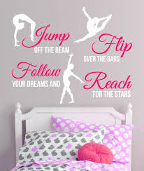 gymnastics wall decorations promotion shop for promotional new 2017 2 color gymnastics dance girls sport vinyl wall decor mural quote decal saying wall stickers home decor