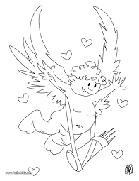 flying cupid coloring pages hellokids com