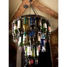 Wine Bottle Chandeliers Wrought Iron Amalfi Wine Bottle Chandelier