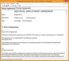 employment contract template builder download online