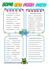 Unjumble Words Worksheets Much Many Many Much Pinterest English