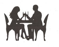 candle light dinner silhouette by hilemanhouse on etsy 1 99