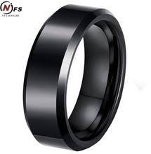 cincin tungsten carbide cincin datar hitam beli murah cincin datar hitam lots from china