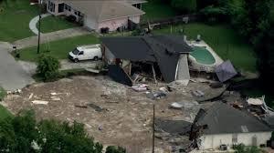 Sinkhole In Backyard Sinkhole Swallows Homes In Florida Cnn