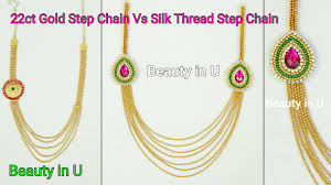 making necklace chain images How to make paper silk thread bridal step chain at home tutorial jpg