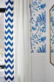 stylish blue chevron curtains and light blue and white chevron