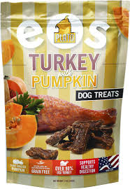 plato dog treats eos grain free turkey u0026 pumpkin 12oz