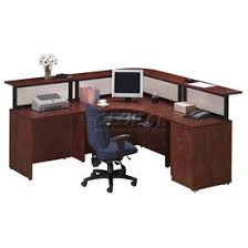 Reception Station Desk Desks Office Collections Storlie Cherry L Desk Reception
