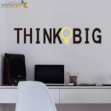 home decor study room think big quote wall stickers home decorations zooyoo8251 study