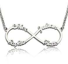 infinity necklace with name infinity name necklace with 4 names