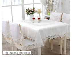 cheap lace overlays tables white elegant polyester satin lace tablecloth wedding table cloth