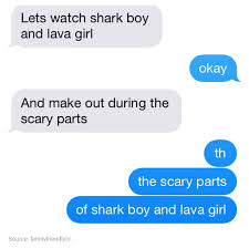 Making Out Meme - the scary parts of shark boy and lava girl tumblr know your meme