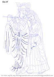 learn how to draw krishan with radha hinduism step by step