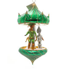 laved italian ornaments wizard of oz carousel glass ornament