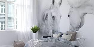 chambre cheval fille papiers peints chambre à coucher mur aux dimensions myloview fr