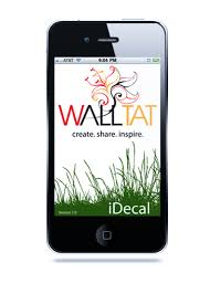 wall decals retailer walltat com releases idecal a free iphone app
