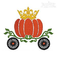 pumpkin carriage pumpkin carriage enmbroidery design