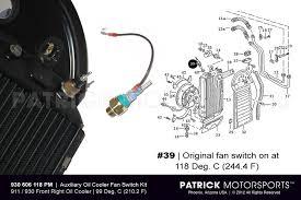 oil cooler fan kit temp switch sender kit for oil cooler fan 911 carrera 930 turbo by