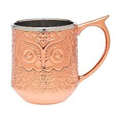 owl mug godinger hammered copper moscow mule owl mug bed bath beyond