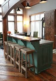 your reclaimed rustic and recycled oak barn wood rectangle top bar
