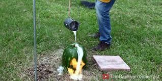 guy pours molten aluminum into watermelon unintentionally makes
