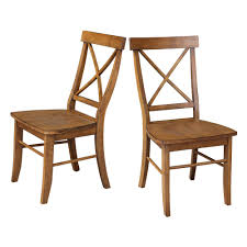 distressed wood table and chairs international concepts distressed pecan x back dining chairs set of