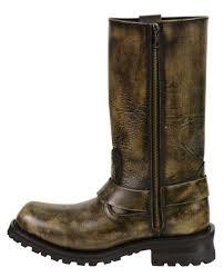 motorbike sneakers men u0027s motorcycle genuine leather distressed brown 11 inch boot