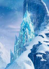 beautiful ice castle elsa movie frozen