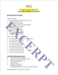bill of sale and inventory list realcreforms