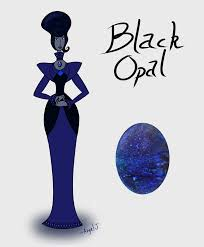 white opal gemsona gemsona opal adopts black opal barkingdragonart by