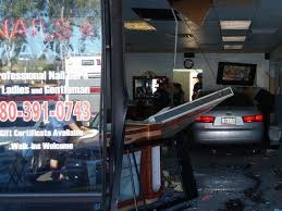 woman accidentally crashes into nail salon in scottsdale police