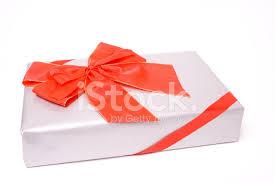 big present bow christmas present with big bow or ribbon stock photos