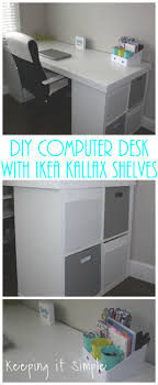Kallax Filing Cabinet Ikea Hack Diy Computer Desk With Kallax Shelves Keeping It