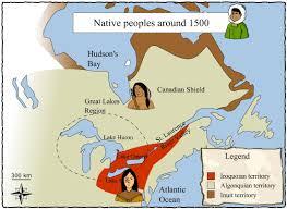 Algonquin Map Iroquois Territory U2013 Societies And Territories