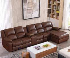 livingroom sectionals living room sofa recliner sofa cow genuine leather sofa cinema 4