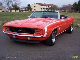 1969 camaro rs ss convertible hugger orange 1969 chevrolet camaro rs ss convertible exterior