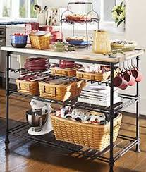 wrought iron kitchen island longaberger retired wrought iron bin stand with 3 bin baskets