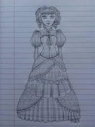 victorian dress sketch by baxterboveng on deviantart