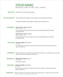 basic resume layouts resume in word template 19 free word pdf documents download