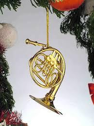 gold horn musical instrument ornament new