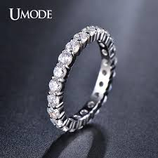 rings with bands images Umode wedding 3mm 0 1 carat round cz white gold color simulated jpg