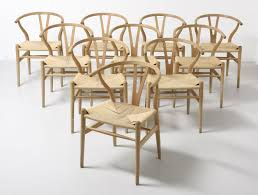 Hansen Patio Furniture by Set Of 10 Wishbone Dinner Chairs By Hans Wegner For Carl Hansen