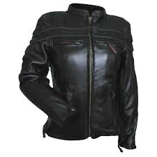 perforated leather motorcycle jacket women u0027s lj631 leather motorcycle jacket jafrum